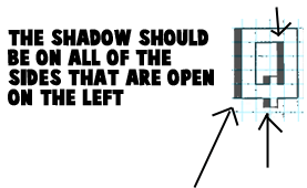 How to Shade Letters on the Left