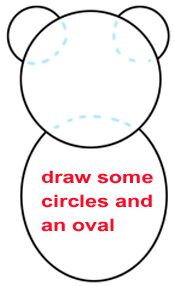 Step 1 : Drawing a Cartoon Beaver Easy Steps Lesson