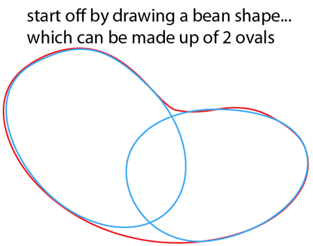 Step 1 : Drawing Cartoon Snake Easy Steps Lesson