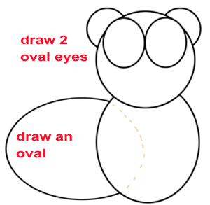 Step 2 : Drawing a Cartoon Beaver Easy Steps Lesson