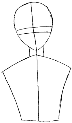 Step 2 : Drawing Yuki Sohma from Fruits Basket Easy Steps Lesson