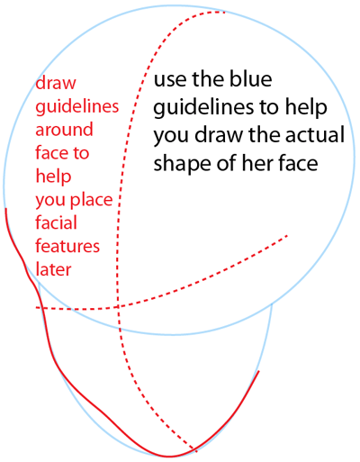 Step 2 : Drawing Cinderella Time Easy Steps Lesson