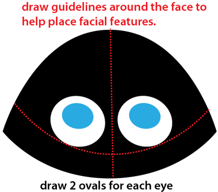 Step 2 : Drawing Cartoon Skunk Easy Steps Lesson