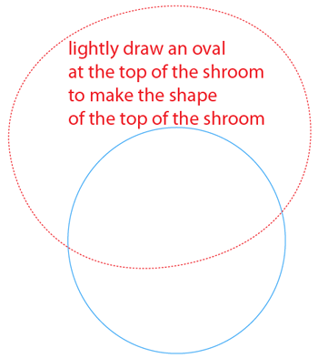 Step 2 : Drawing Puff-shroom from Plants vs Zombies Bat Easy Steps Lesson