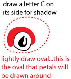 Step 2 : Drawing Long Stem Roses Easy Steps Lesson