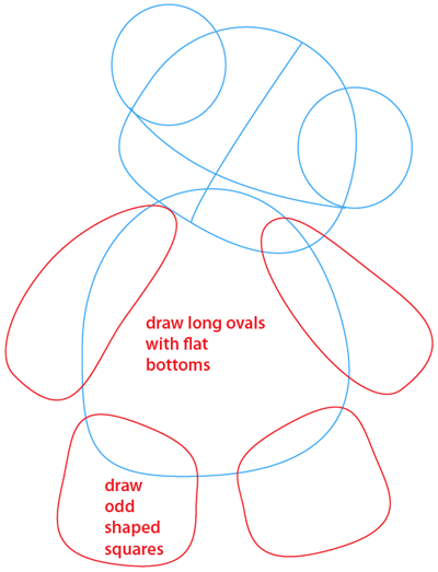 Step 3 : Drawing a Teddy Bear Easy Steps Lesson