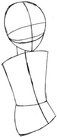 Step 3 : Drawing Momiji Sohma from Fruits Basket Easy Steps Lesson
