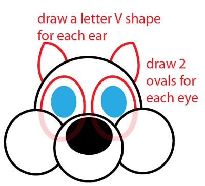 Step 3 : Drawing Cartoon Squirrel Easy Steps Lesson
