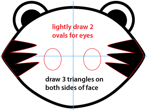 Step 3 : Drawing Cartoon Baby Tiger Easy Steps Lesson