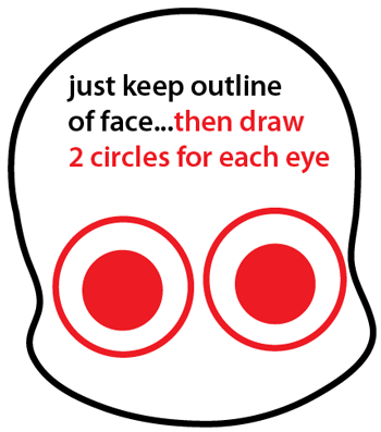 Step 3 : Drawing a Cartoon Vampire Easy Steps Lesson