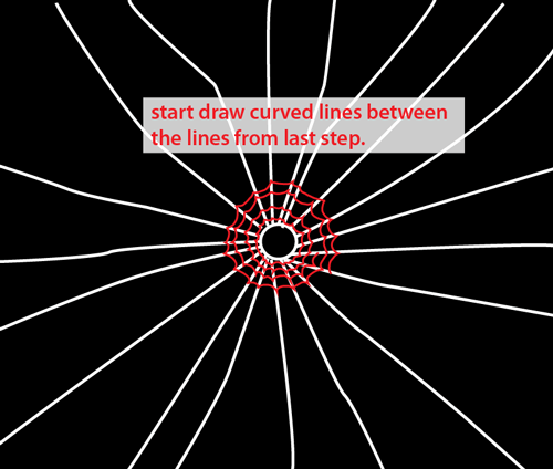 Drawing Lines Between : How to draw spider webs with easy step by drawing