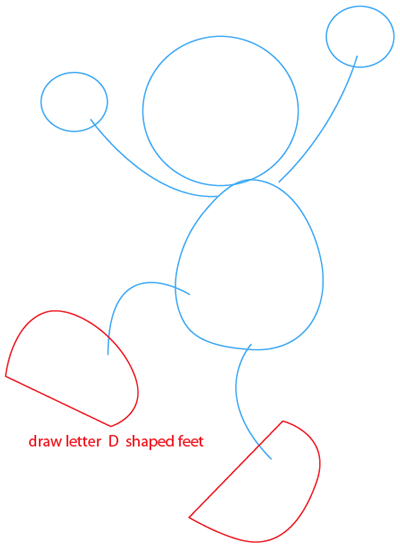 Step 3 : Drawing Elmo from Sesame Street Easy Steps Lesson