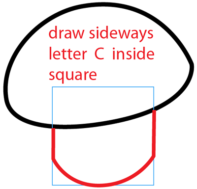 Step 4 : Drawing Puff-shroom from Plants vs Zombies Bat Easy Steps Lesson