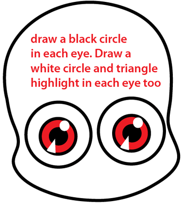 Step 4 : Drawing a Cartoon Vampire Easy Steps Lesson