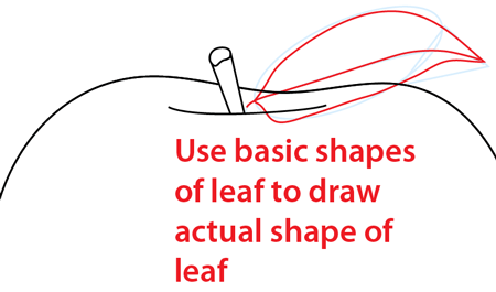 Step 5 : Drawing an Apple Easy Steps Lesson
