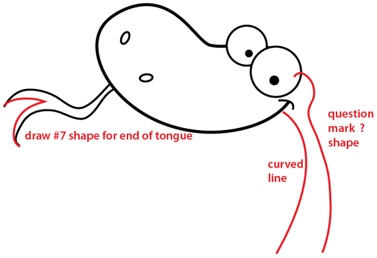 Step 5 : Drawing Cartoon Snake Easy Steps Lesson
