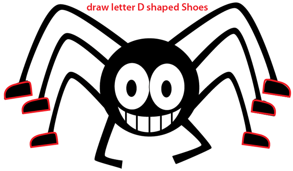 Step 5 : Drawing Cartoon Spider Easy Steps Lesson