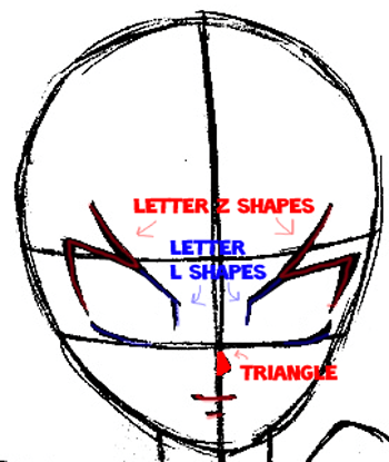 Step 6 : Drawing Yugi Mutou from Yu-Gi-Oh Easy Steps Lesson