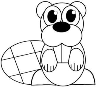 Step 6 : Drawing a Cartoon Beaver Easy Steps Lesson