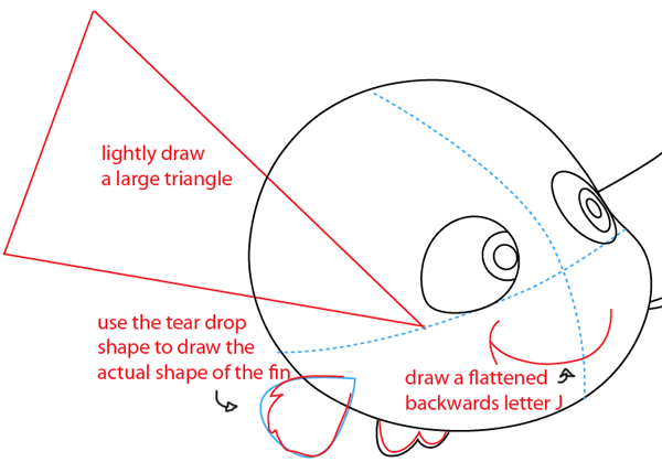 Step 6 : Drawing Nemo from Disney's Finding Nemo Easy Steps Lesson