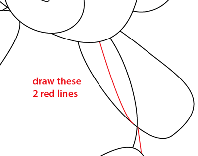 Step 7 : Drawing a Teddy Bear Easy Steps Lesson