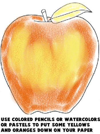 Step 7 : Drawing an Apple Easy Steps Lesson