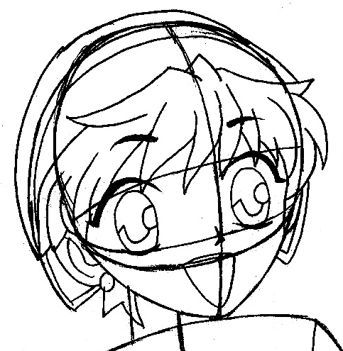 Step 7 : Drawing Momiji Sohma from Fruits Basket Easy Steps Lesson