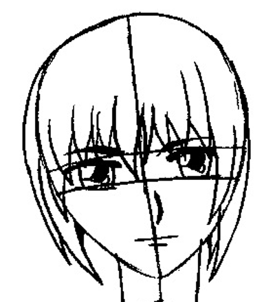 Step 7 : Drawing Yuki Sohma from Fruits Basket Easy Steps Lesson