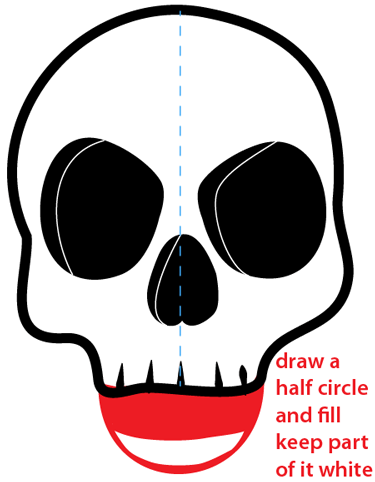 how to draw a cartoon skull easy step by step