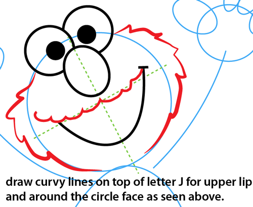 step 7 drawing elmo from sesame street easy steps lesson