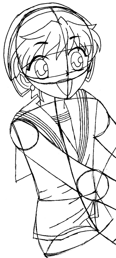 Step 8 : Drawing Momiji Sohma from Fruits Basket Easy Steps Lesson