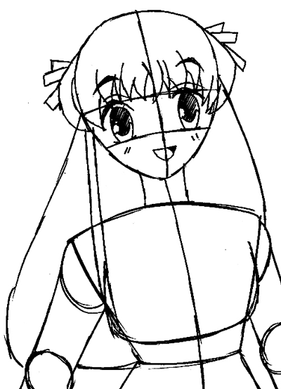 Step 8 : Drawing Tohru Honda from Fruits Basket Easy Steps Lesson