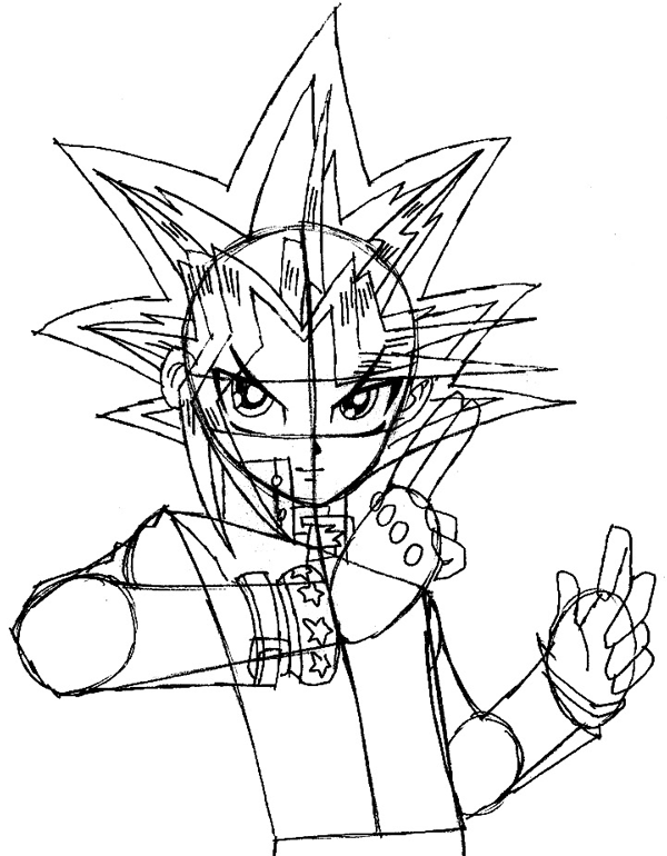 How to draw yami from yu gi oh with easy step by step drawing step 9 drawing yugi mutou from yu gi oh easy steps lesson ccuart Gallery