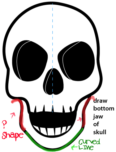 Step 9 Drawing A Cartoon Skull Easy Steps Lesson