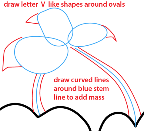 Step 9 : Drawing Cherry Bombs from Plants vs Zombies Easy Steps Lesson