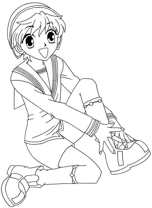 Step 11 : Drawing Momiji Sohma from Fruits Basket Easy Steps Lesson