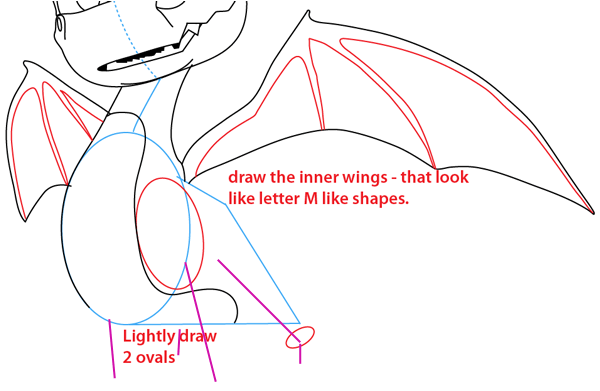 Step 11 : Drawing Spyro from Spyro the Dragon Easy Steps Lesson
