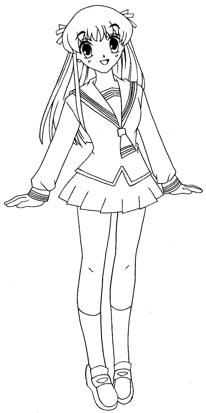 Step 12 : Drawing Tohru Honda from Fruits Basket Easy Steps Lesson