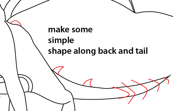 Step 15 : Drawing Spyro from Spyro the Dragon Easy Steps Lesson