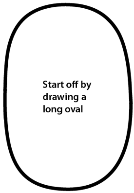 Step 1 : Drawing Cartoon Whale Easy Steps Lesson