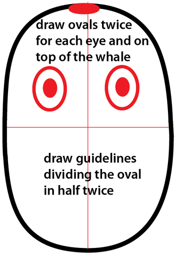 Step 2 : Drawing Cartoon Whale Easy Steps Lesson