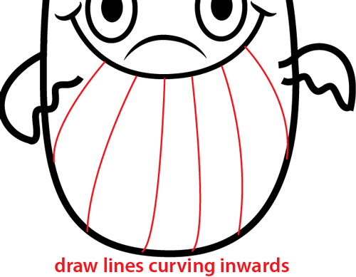Step 5 : Drawing Cartoon Whale Easy Steps Lesson