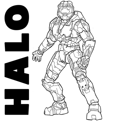 How to draw Spartans from Halo with easy step by step drawing tutorial