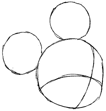 Step 2 : Drawing King Mickey from Kingdom Hearts Easy Steps Lesson