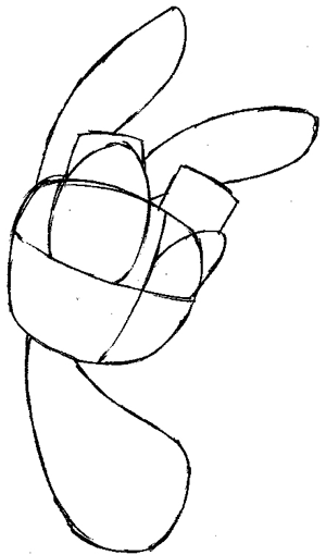 Step 3 : Drawing Daxter from the Jak and Daxter Easy Steps Lesson