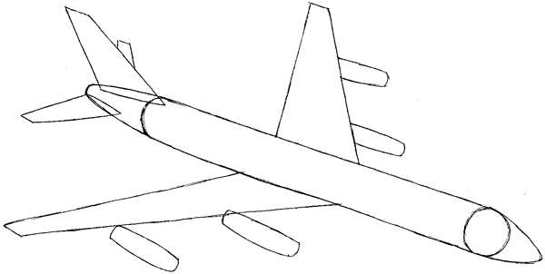 Step 5 : Drawing an Airplane Easy Steps Lesson