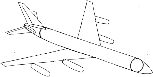 How To Draw An Airplane With Easy Step By Step Drawing Tutorial