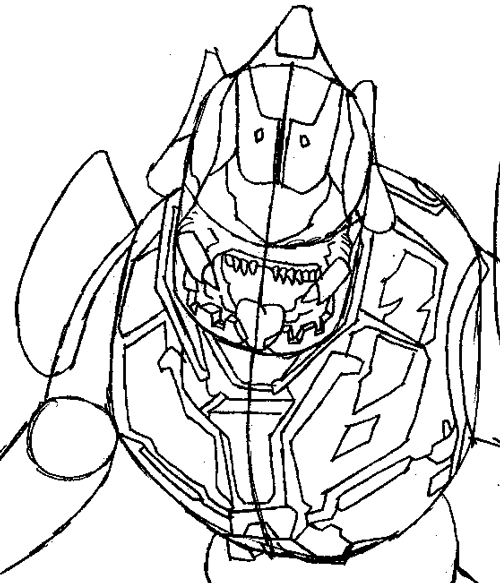 how to draw the elite from halo with easy step by step drawing tutorial - page 2 of 2