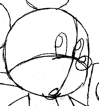 Step 8 : Drawing King Mickey from Kingdom Hearts Easy Steps Lesson