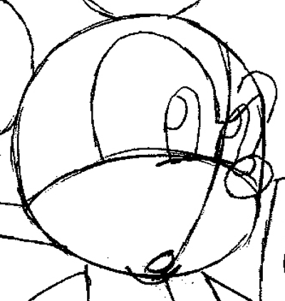 Step 9 : Drawing King Mickey from Kingdom Hearts Easy Steps Lesson